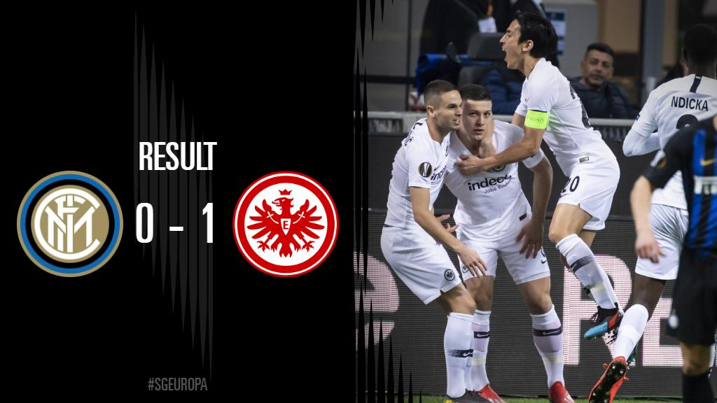 IT&#39;S ALL OVER!!!! The Eagles deservedly through. Quarter-finals here we come!   #SGEuropa #InterSGE | 0-1 <br>http://pic.twitter.com/kNxmqIgWc5