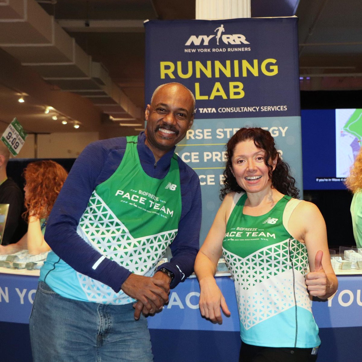 Ready to race your way to a big PR at the #UnitedNYCHalf? Get a little help on race day from the NYRR Pace Team powered by @Biofreeze. Keep an eye out for these singlets so you can find a pacer to help guide you towards achieving your goals and #FeelNoLimits #partner
