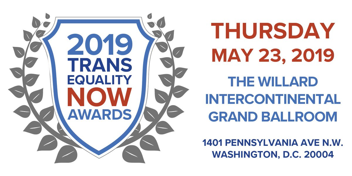 ON SALE NOW: Tickets are available for this year's #TransEqualityNow Awards!   Purchase today and lock in an EARLY BIRD price: https://transequality.org/TENawards