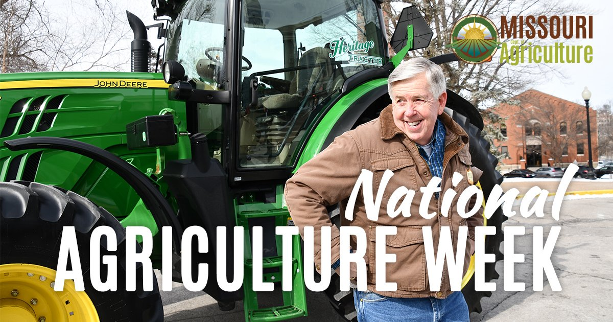Every day is #NationalAgDay for my fellow farmers, ranchers, &amp; agribusinesses across Missouri! We are proud that agriculture is our state&#39;s # 1 industry! #NationalAgWeek   #MissouriForward<br>http://pic.twitter.com/HVyKKdAfze