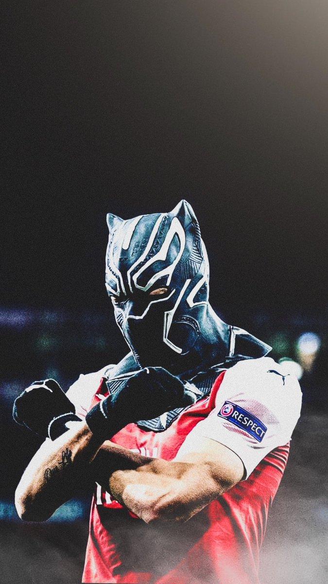 A U B A! #WakandaForever RT's Appreciated @Aubameyang7 @Arsenal<br>http://pic.twitter.com/VFLhaPfK9H
