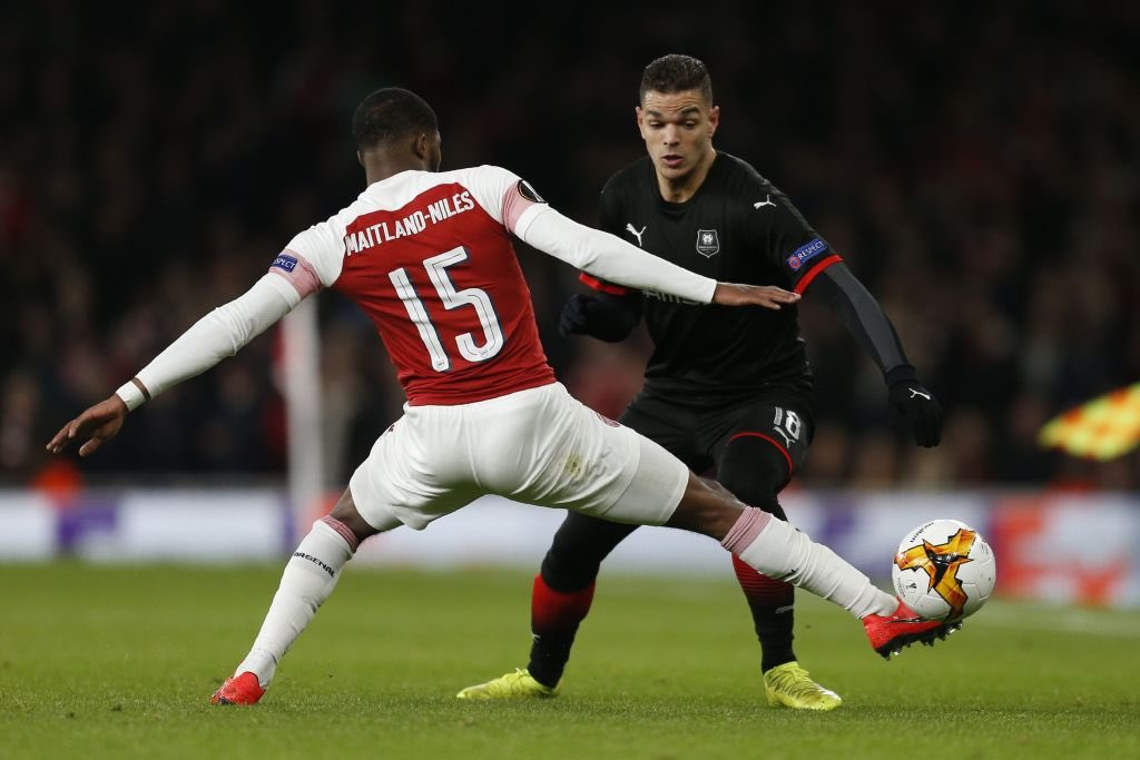 | #AFC  Ainsley Maitland-Niles vs Rennes (H)   1 goal 30 passes 79% pass accuracy 1 dribble won 5 tackles won 2 interceptions 1 clearance 1 aerial won  Superb performance  <br>http://pic.twitter.com/jxVVqNNrhz