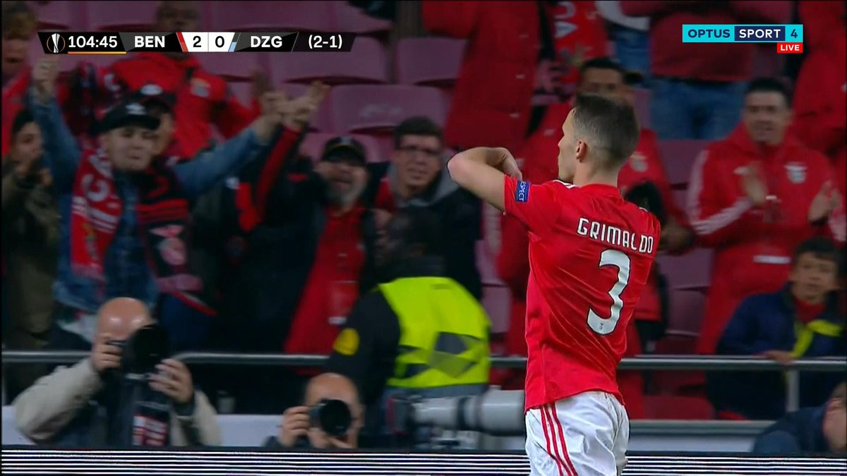 Optus Sport On Twitter 105 Goal Benfica Alex Grimaldo Take A Bow A Golazo From Range To All But Seal The Tie For Benfica Over Dinamo Zagreb Benfica 3 0 Dinamo Zagreb 3 1