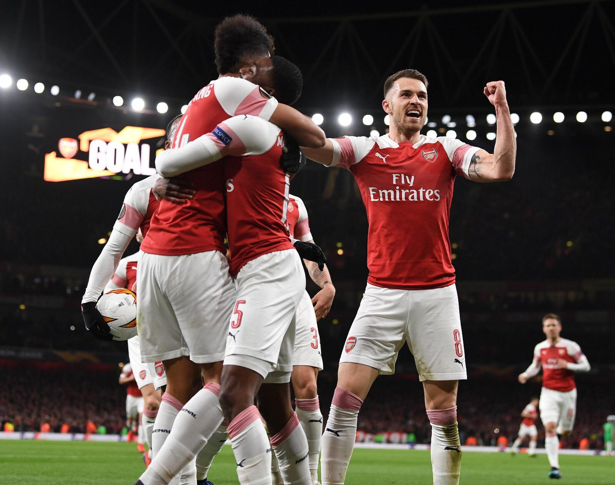 Next round  Well done boys #WeAreTheArsenal #YaGunnersYa #COYG @Arsenal<br>http://pic.twitter.com/BG1ya7naKw