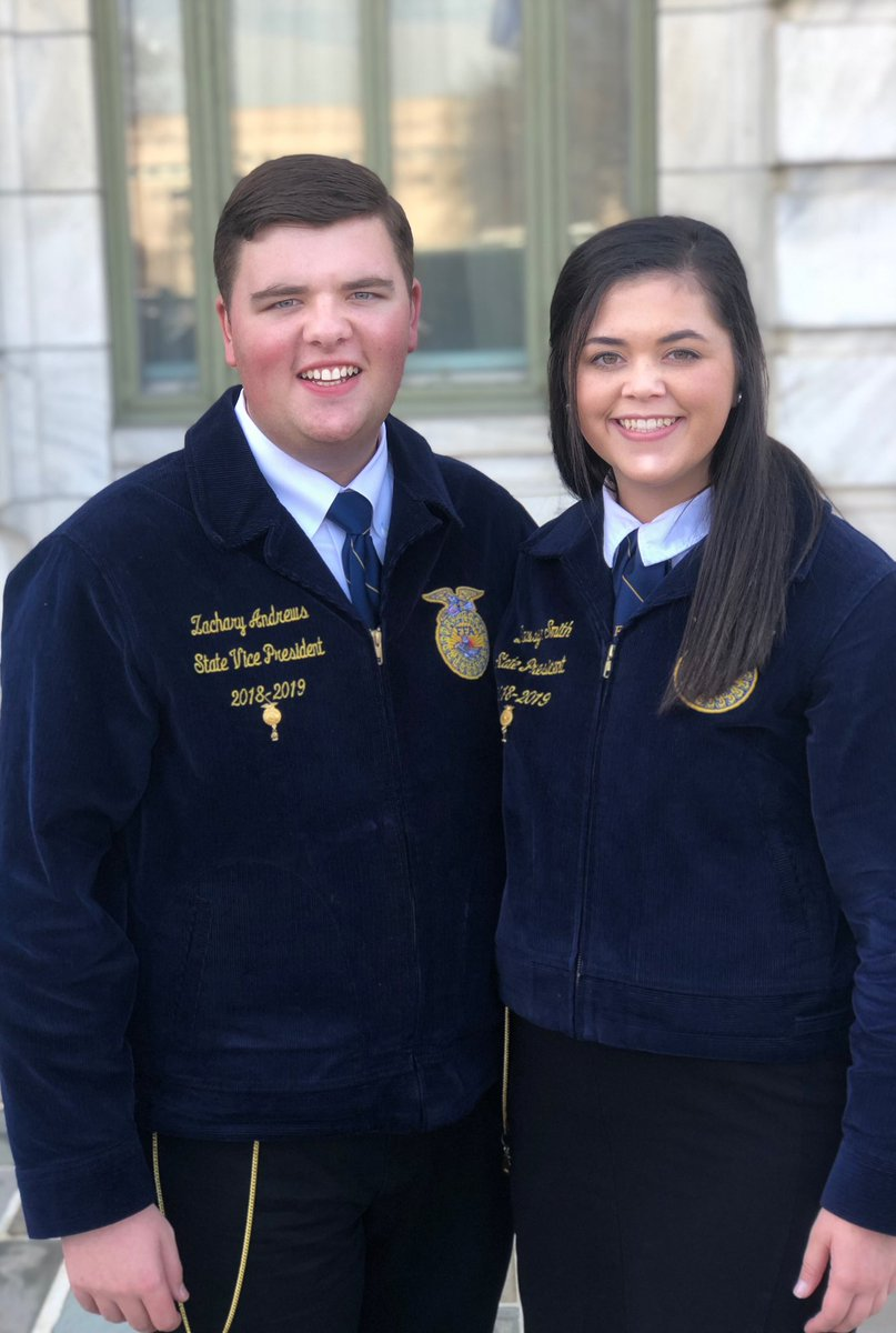State Officers Dawsyn and Zachary have been in Washington DC celebrating National Ag Day and advocating for our Industry! @ARCareerEd