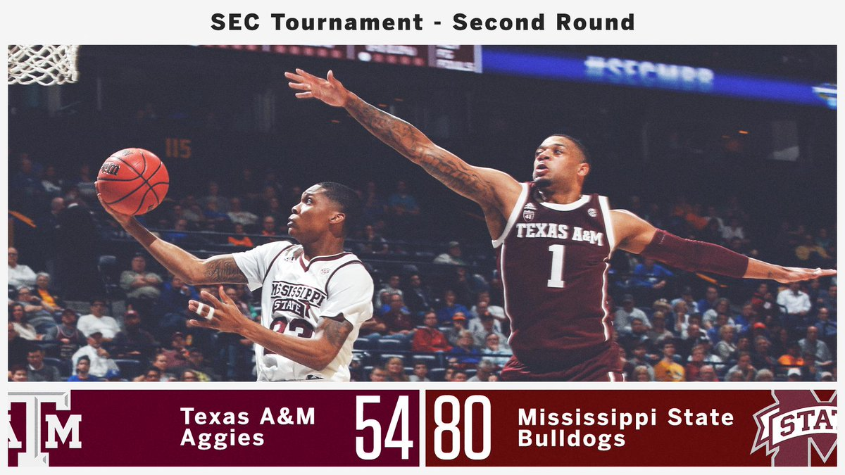 HAIL STATE(MENT) 👊 @HailStateMBK scores big to advance to the #SECMBB Quarterfinals!