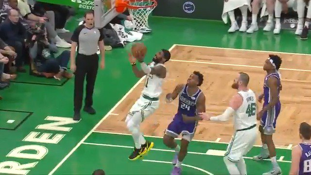 ☘️ @KyrieIrving (31 PTS, 12 AST, 10 REB) records his second career triple-double in the @celtics home W! #CUsRise https://t.co/FTWSYBaRd7