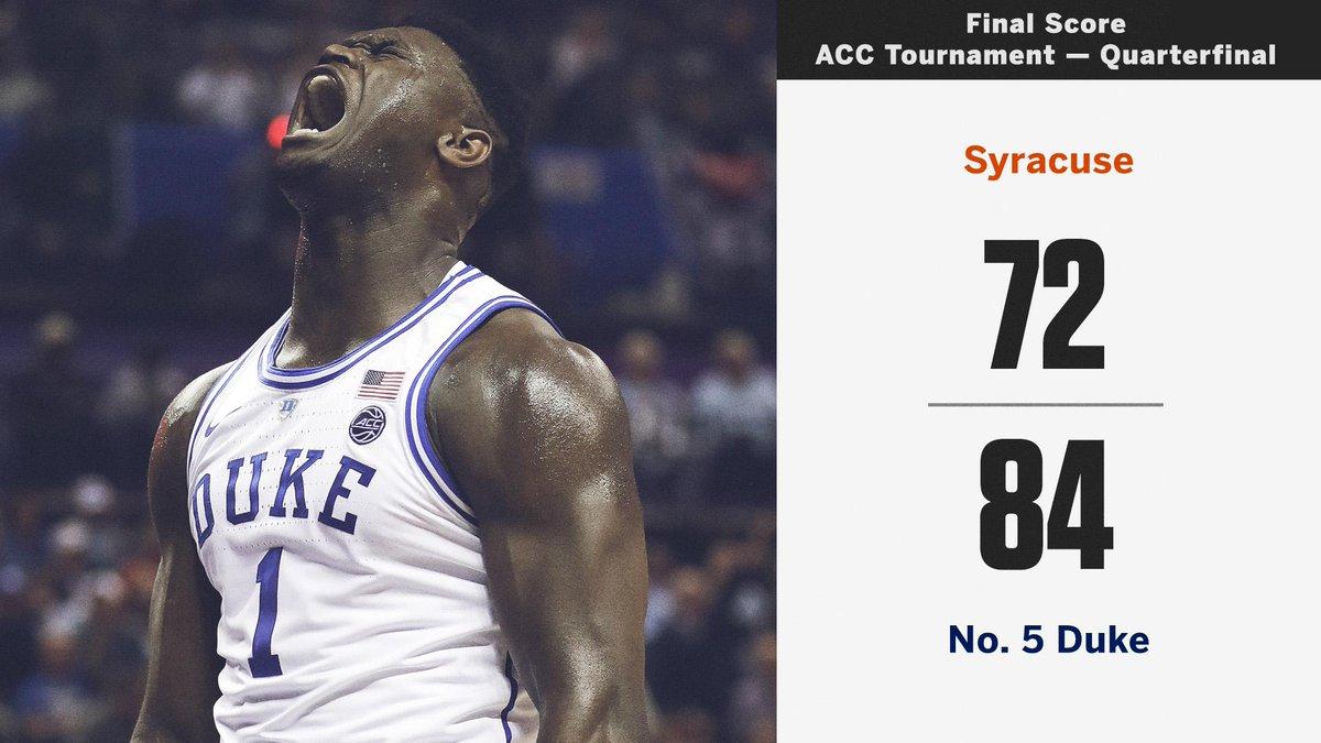 In Zion's return, Duke wins big over Syracuse!
