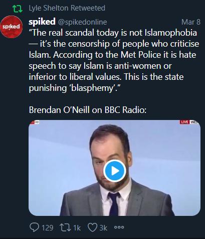 Michaelo's photo on Islamophobic