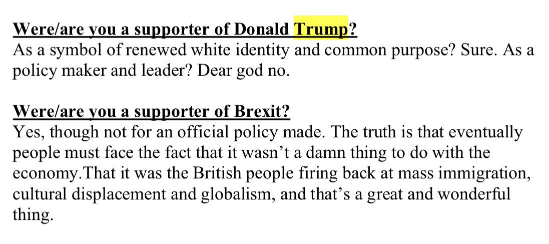 """#ChristChurch mosque attacker mentions Trump once. Calls him """"a symbol of renewed white identity and common purpose""""."""