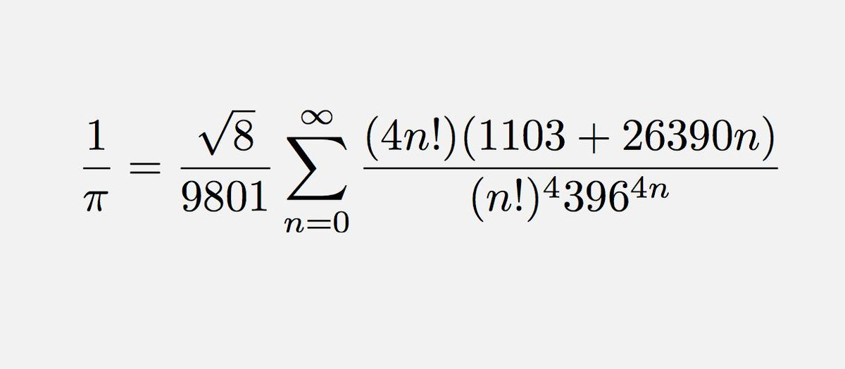 For #PiDay, one of the coolest formulae for today&#39;s honoree: <br>http://pic.twitter.com/6MACE7wOl0