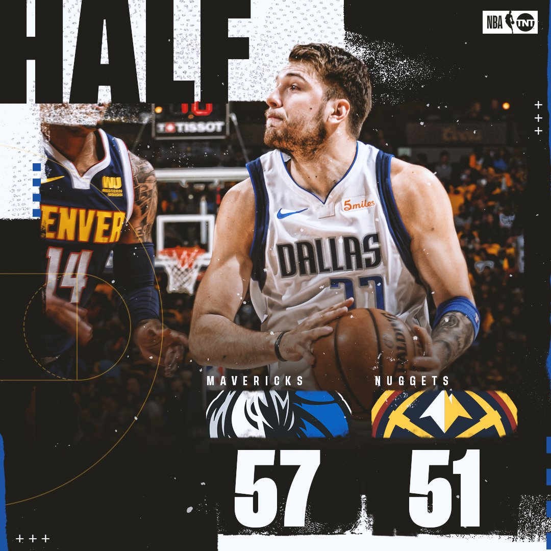 The Mavs & Nuggets are going at it on TNT! 🔥  #MFFL