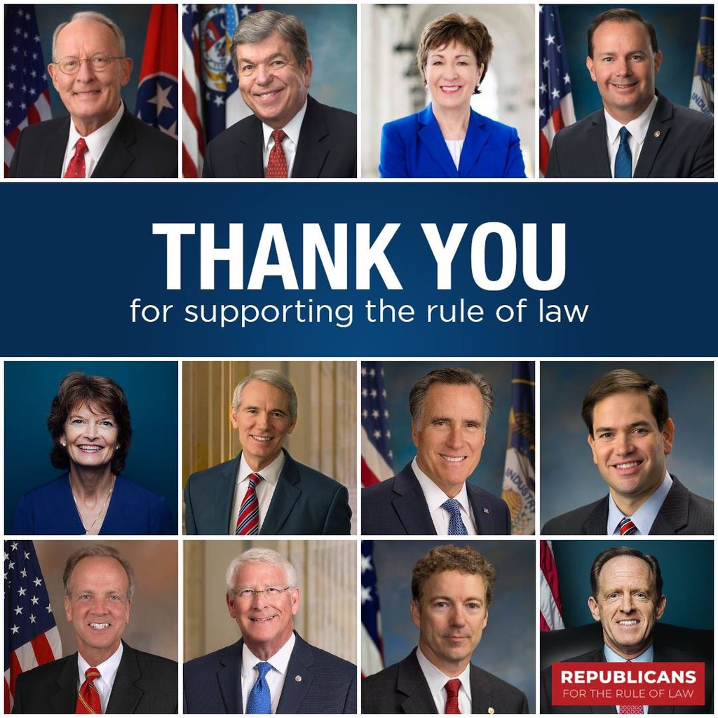 Americans owe a huge thank you to these principled US senators who placed their #PrinciplesFirst. <br>http://pic.twitter.com/b37xQjsNyK