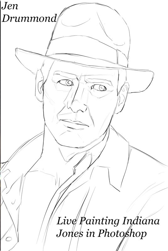 jendart Streaming some digital painting in Photoshop! Indiana Jones