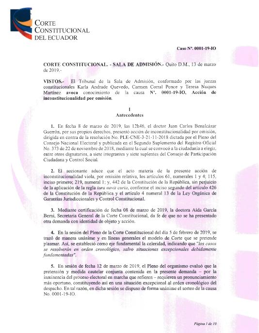 El Comercio On Twitter Atención La Corte Constitucional