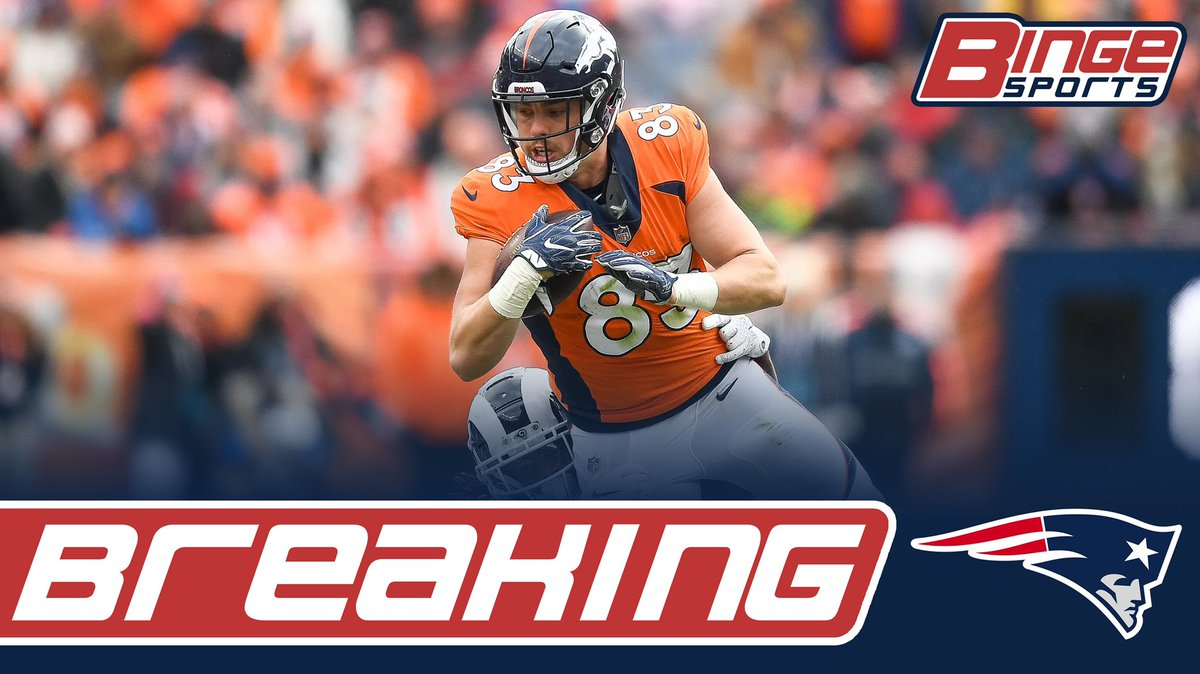 BREAKING: The #Patriots have signed former Broncos TE Matt LaCosse. <br>http://pic.twitter.com/zMe0Uh9wZK