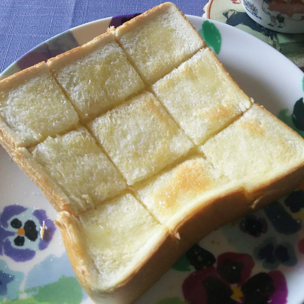 金爆キリショーおすすめの食パンの食べ方をしてみたら、外カリカリ中ふんわりになった!!