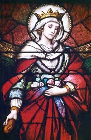 """How could I bear a crown of gold when the Lord bears a crown of thorns? And bears it for me!"" (Saint Elizabeth of Hungary)"