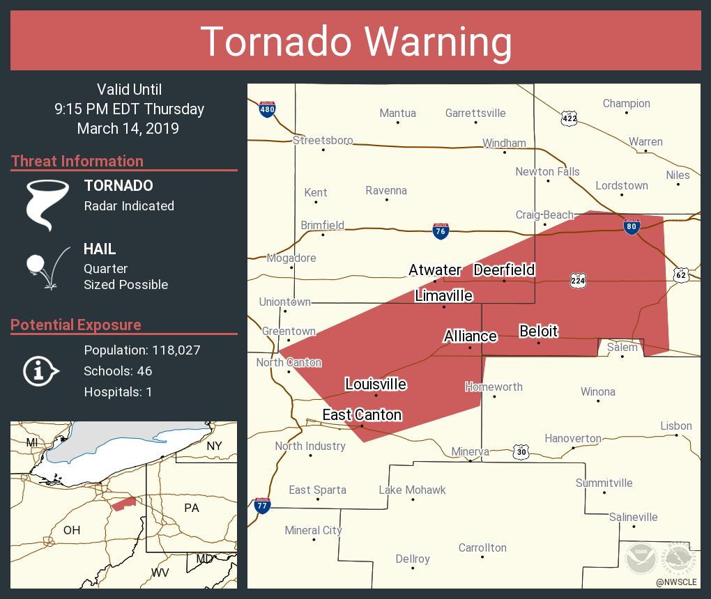 NWS Cleveland's photo on Tornado Warning