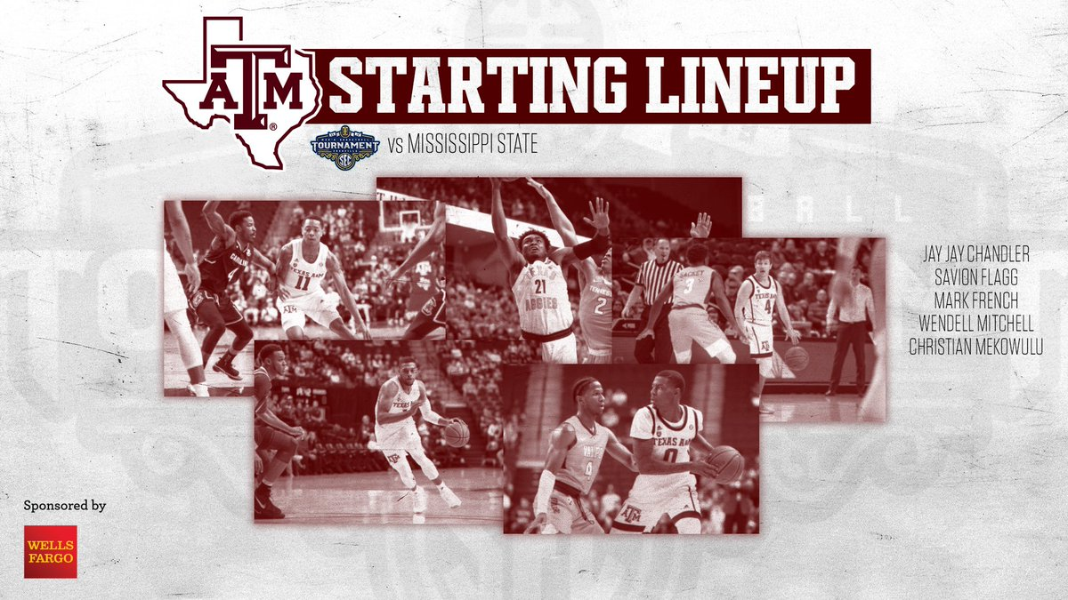 Mixing it up again with the starters.  40 minutes. 1 goal.  💻 https://es.pn/2TsAgAZ   📊 http://statb.us/v/tam/251484   👂 https://aggi.es/tunein    #SECTourney #GigEm