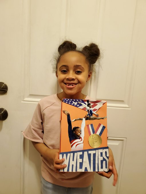 Happy birthday my daughter finished her project and wheaties box on you