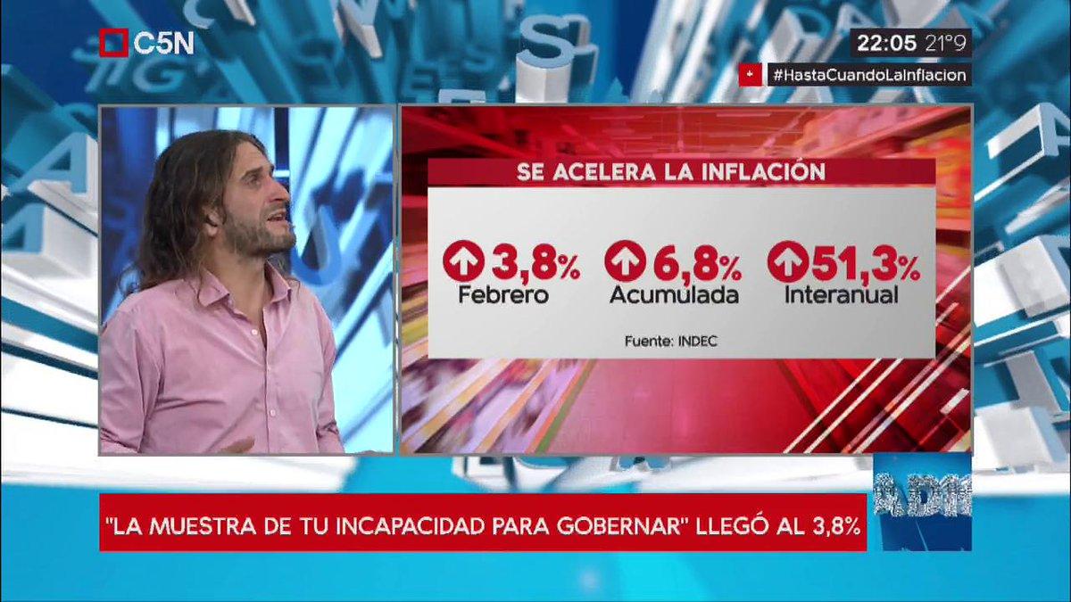 C5N's photo on #HastaCuándoLaInflación
