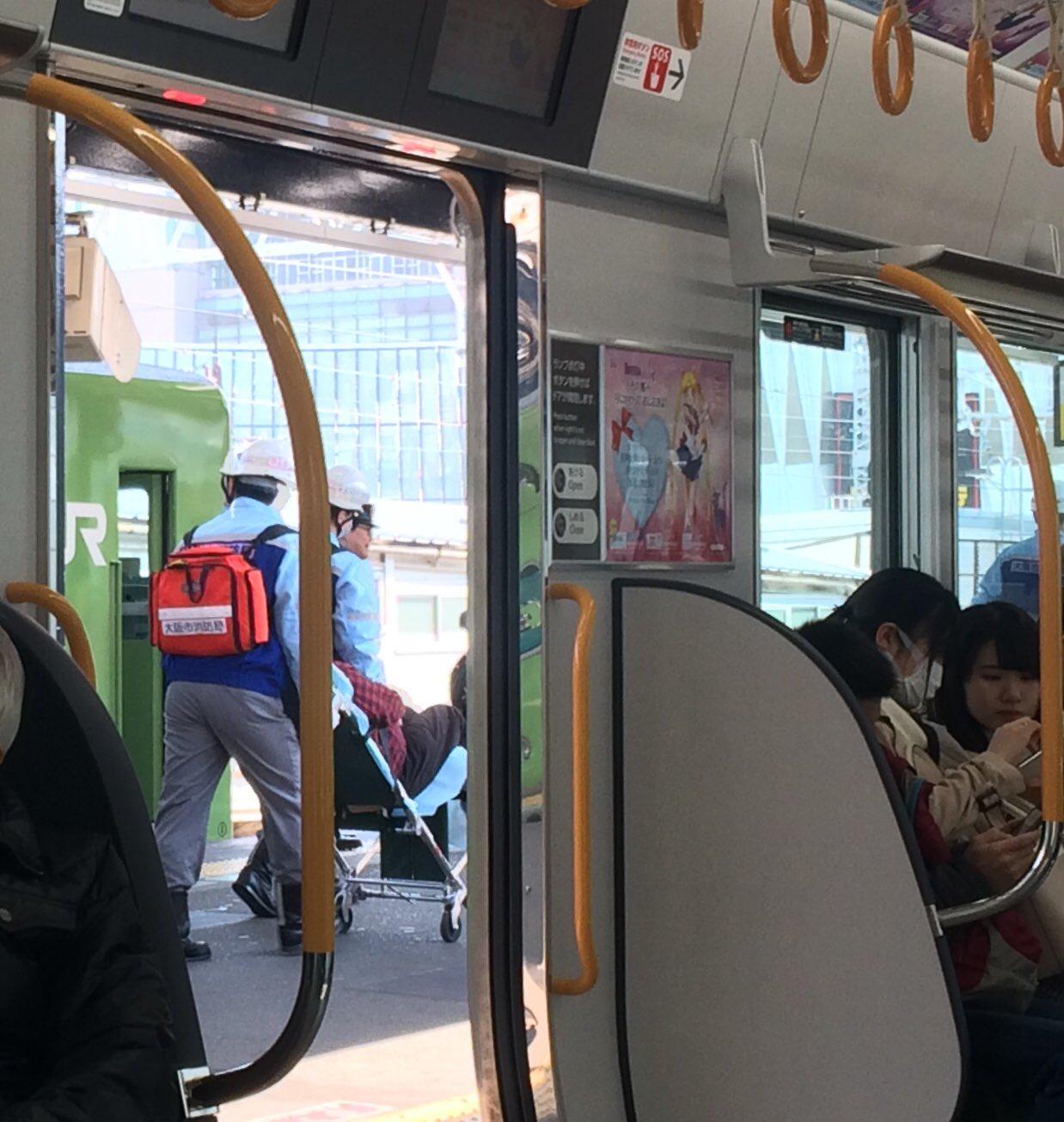 新今宮駅で人身事故が起きた現場画像