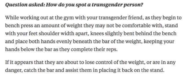 This is the best way to spot a trans person