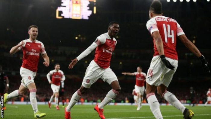 Okeibunor Favour's photo on Arsenal 3-0 Rennes