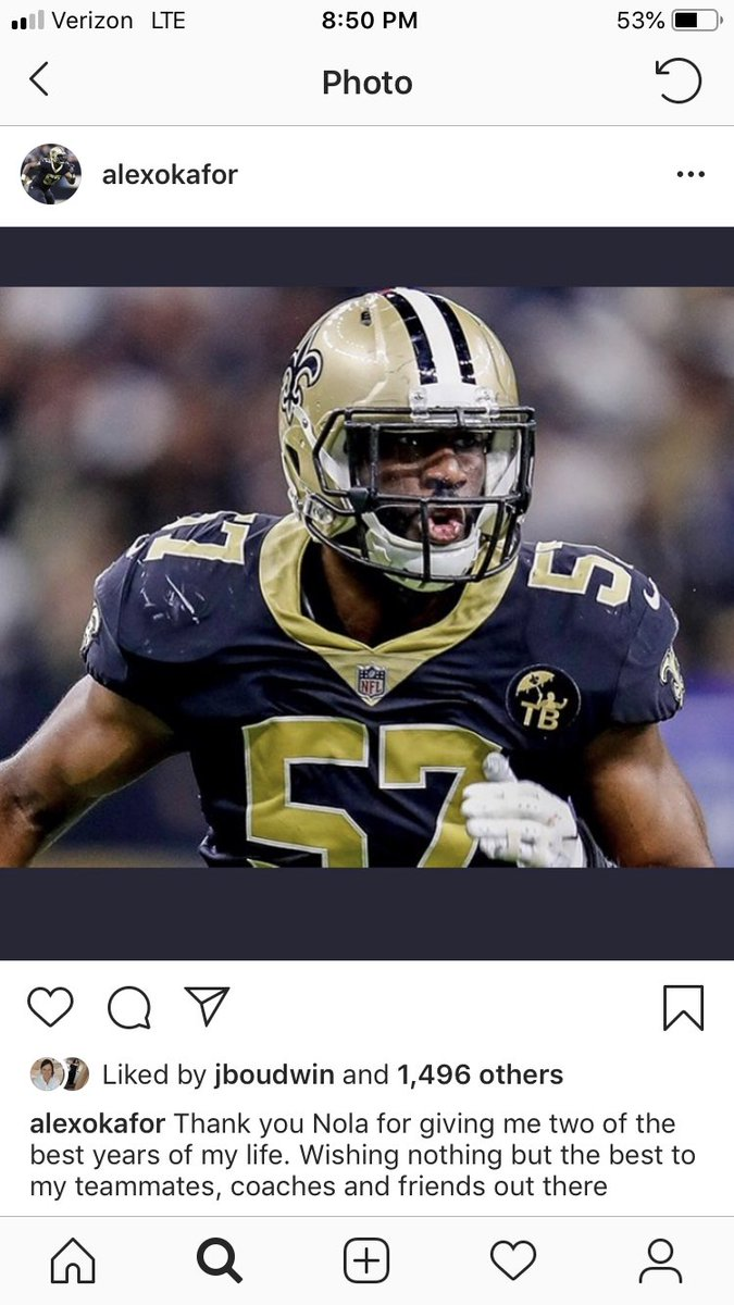 Alex Okafor's goodbye message to New Orleans <br>http://pic.twitter.com/8uL17t7mdp