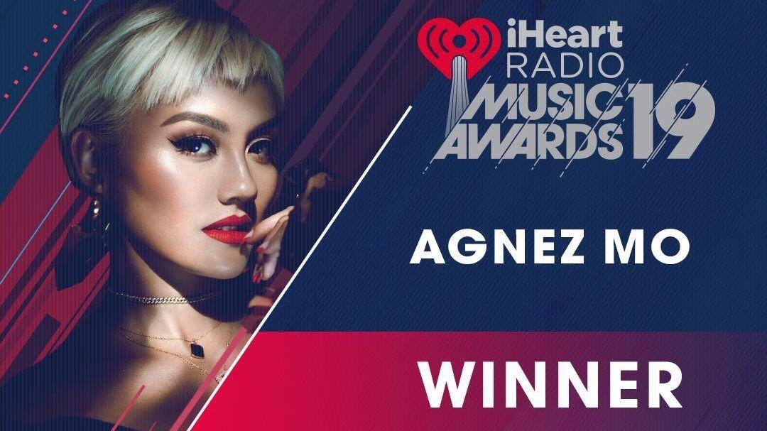 AGNEZ MO jadi musisi pertama dari Asia Tenggara yang berhasil memenangkan penghargaan iHeartRadio Music Awards!  Selamat! @agnezmo #iHeartAwards2019 #iHeartAGNEZMO @iHeartRadio