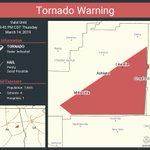 Image for the Tweet beginning: Tornado Warning continues for Lineville