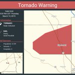 Image for the Tweet beginning: Tornado Warning continues for Pine