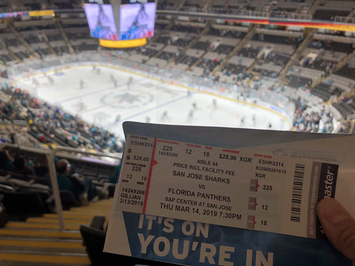 Thanks @VitalantBayArea for tickets!  Go #SJSharks ! #SharksForLife  <br>http://pic.twitter.com/Ts1G4nHGdq &ndash; à SAP Center at San Jose