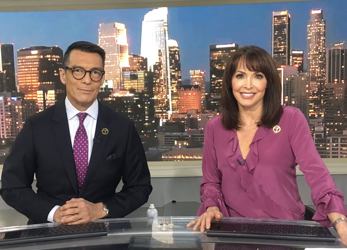We both wore purple today. @abc7george asked if it's for #BTS.  Coincidence?   I'm told not to miss @nbcsnl next month when the guys perform. #BTSARMY @BTS_TWT.<br>http://pic.twitter.com/pX8wpSwcuN