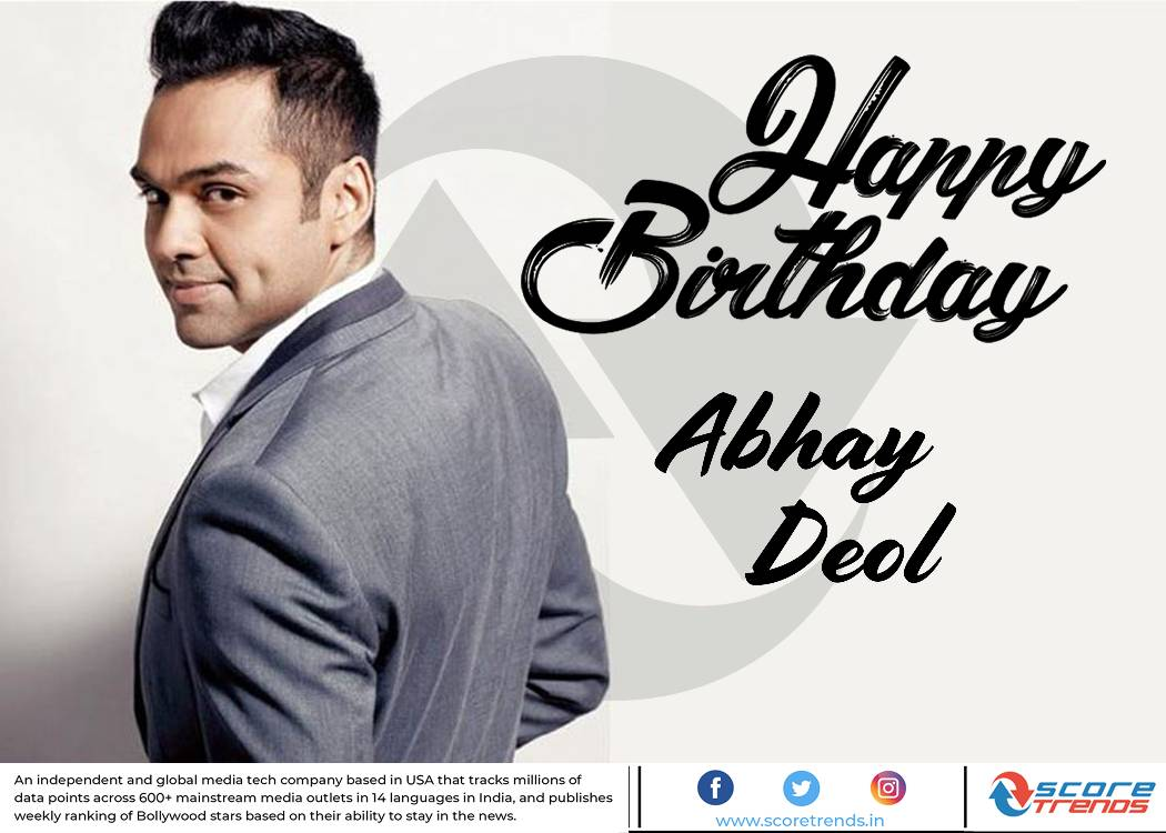 Scoretrends wishes Abhay Deol a Happy Birthday!!