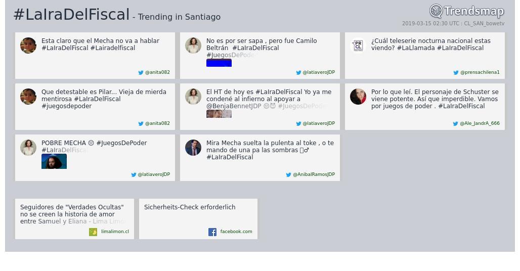 Trendsmap Santiago's photo on #LaIraDelFiscal