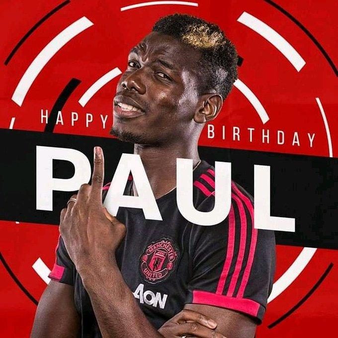 Happy 26th birthday Paul pogba