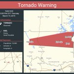 Image for the Tweet beginning: Tornado Warning continues for Holtville