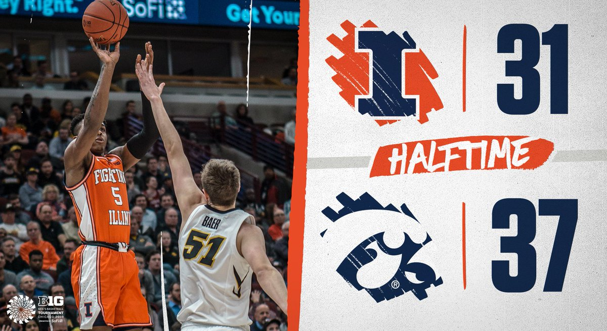 First half filled with runs. Let's get that last one.  #Illini x #EveryDayGuys
