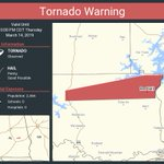 Image for the Tweet beginning: Tornado Warning continues for Red