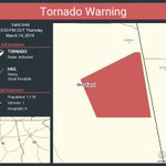 Image for the Tweet beginning: Tornado Warning continues for Woodland