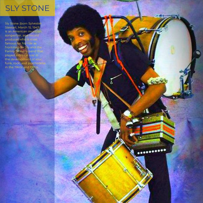 Happy Birthday to Sly Stone.