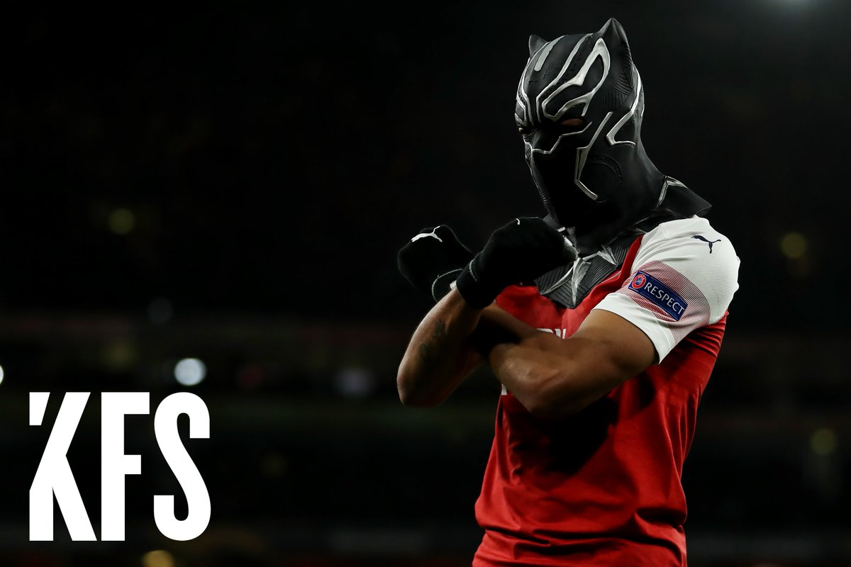 &quot;I needed a mask which represents me. It's the Black Panther and in Africa, in Gabon, we call the national team the Black Panthers of Gabon... It represents me.&quot; @Aubameyang7   #KFS would like to know which country you&#39;re from and what represents you? #UCL #ARSREN #KFSFootball<br>http://pic.twitter.com/HyCJaqdNEx