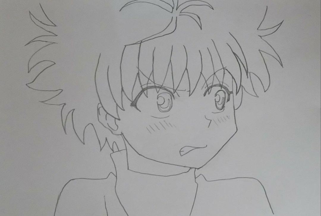 アナログ アナログイラスト シャーペン画 Hunter Hunter キルア
