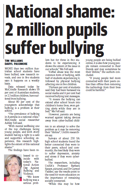UniSA RESI's photo on #BullyingNoWay