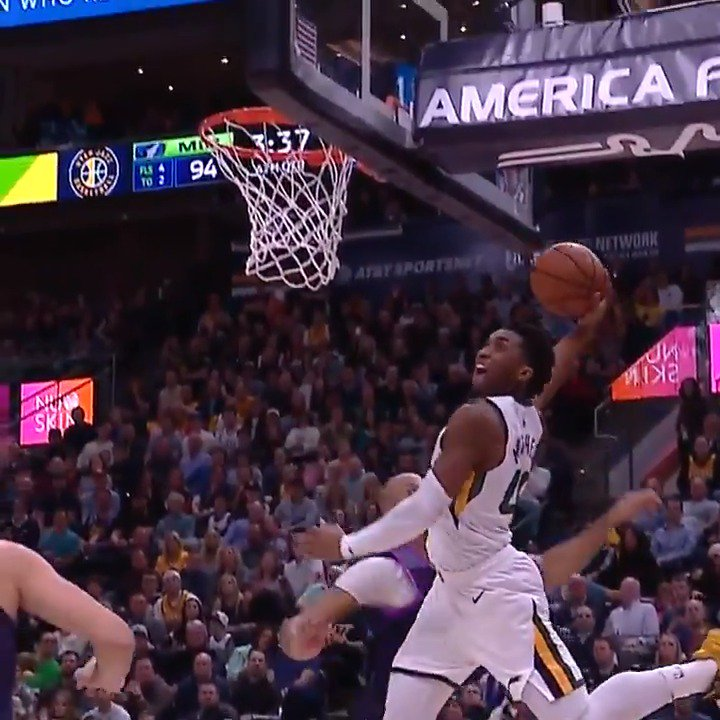 ��️ @spidadmitchell goes for a team-high 24 PTS, 6 AST, fueling the @utahjazz victory vs. MIN! #TeamIsEverything https://t.co/5tyQnD83Tc