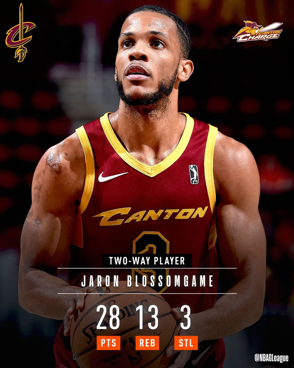 #2WayPlayer Jaron Blossomgame (@JaronBgame) headlines Thursday's TOP #NBAGLeague PERFORMANCES!  @ClemsonMBB ↗️ @CantonCharge ↔️ @cavs