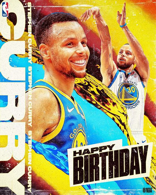 Join us in wishing Stephen Curry of the Golden State Warriors a HAPPY 31st BIRTHDAY!