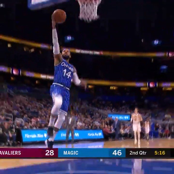 D.J. Augustin paces the @OrlandoMagic's W with 20 PTS, 7 AST! #PureMagic